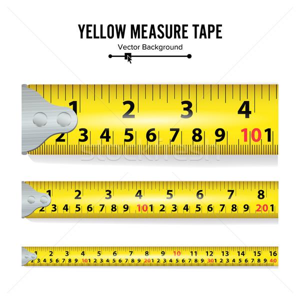 Giallo nastro di misura vettore misura strumento Foto d'archivio © pikepicture