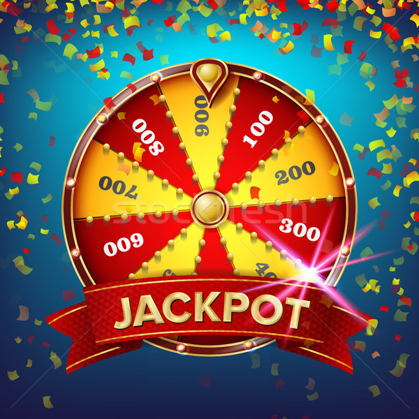 Wheel Of Fortune Poster Vector. Gamble Chance Leisure. Realistic 3d Object. Lottery Design Brochure. Stock photo © pikepicture
