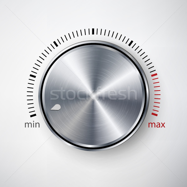 Dial Knob Vector. Global Swatches Stock photo © pikepicture