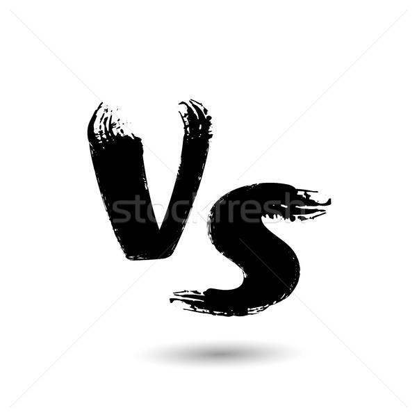 Versus Vector Sign. VS Letters Isolated On White Background. Competition Concept Background. Fight C Stock photo © pikepicture