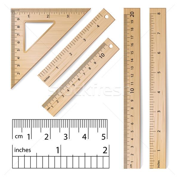 Iskola vektor valósághű klasszikus fából készült metrikus Stock fotó © pikepicture