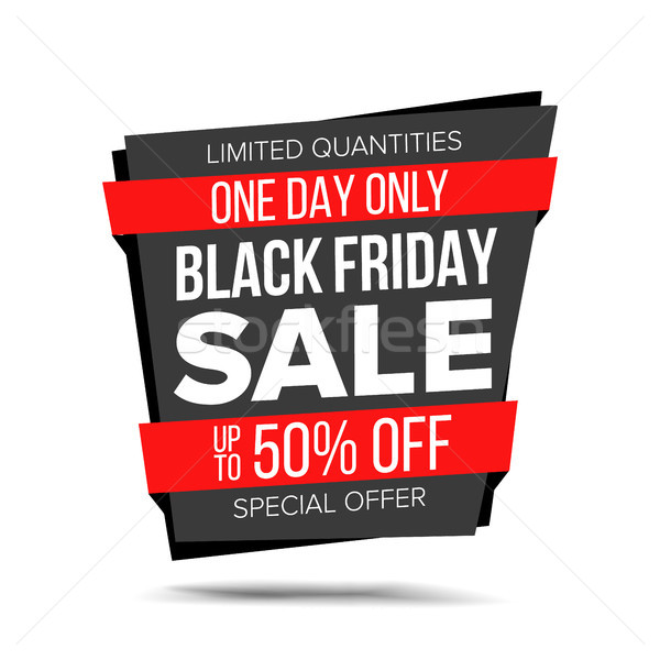 Black Friday Sale Banner Vector. Website Sticker, Black Web Page Design. Big Super Sale. Isolated On Stock photo © pikepicture