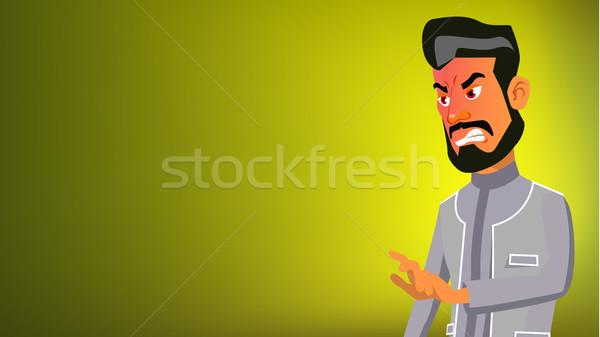 Emiraty człowiek banner wektora pośpieszny emocje Zdjęcia stock © pikepicture