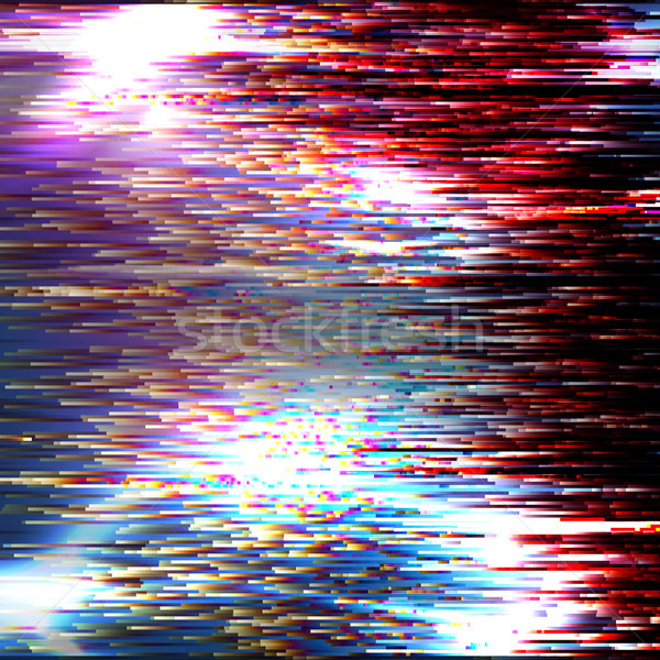 Vector Glitch Background. Modern Digital Image Data Distortion. Corrupted File. Colorful Abstract Ba Stock photo © pikepicture