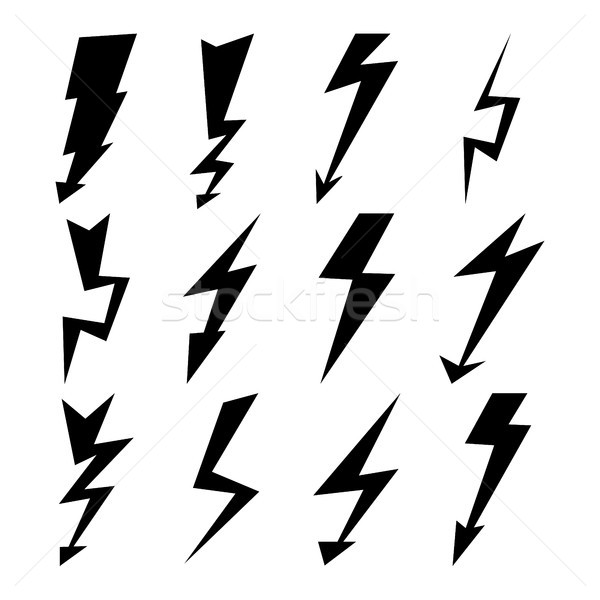 Fulmini segni vettore set icone Foto d'archivio © pikepicture