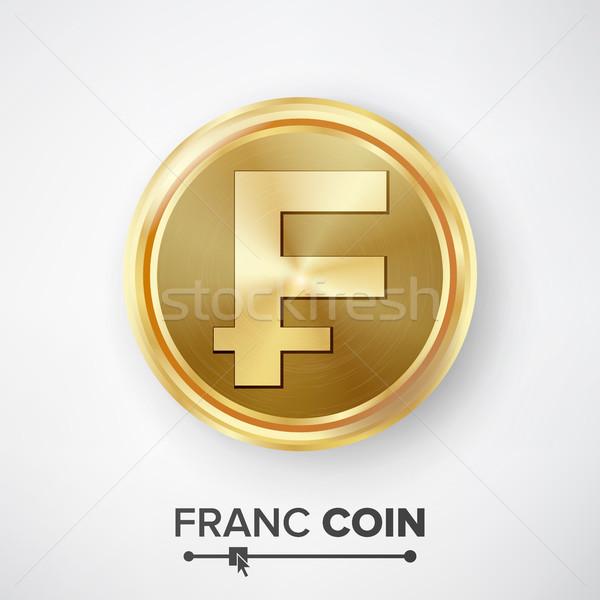 Gouden munt vector realistisch geld teken ontwerp Stockfoto © pikepicture