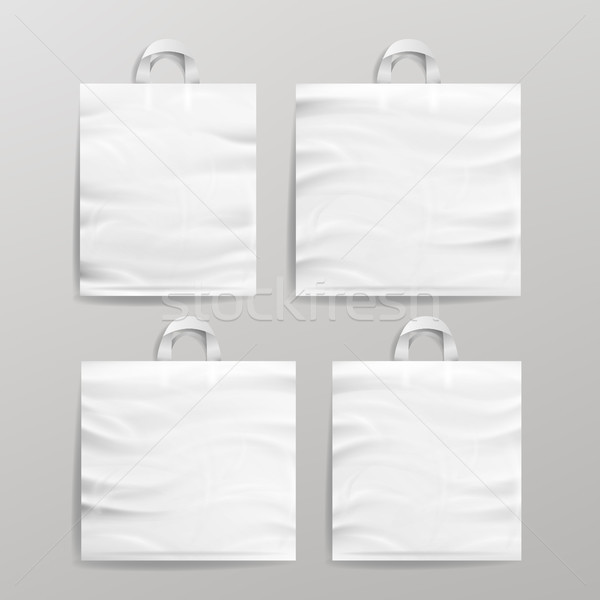 Blanche vide plastique Shopping réaliste Photo stock © pikepicture