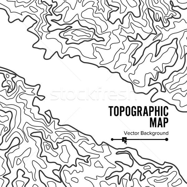 Contour carte vecteur géographie ondulés fond Photo stock © pikepicture
