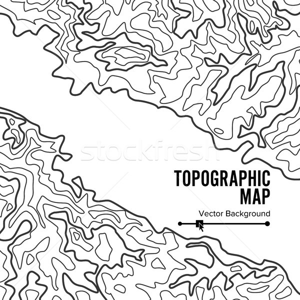 Mapa vector geografía ondulado fondo Foto stock © pikepicture