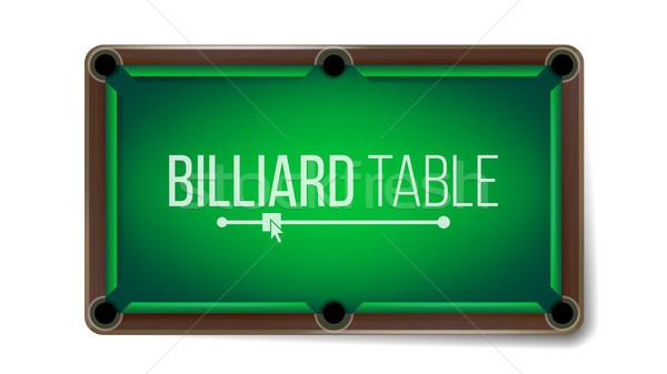 üres biliárd asztal vektor zöld játék Stock fotó © pikepicture