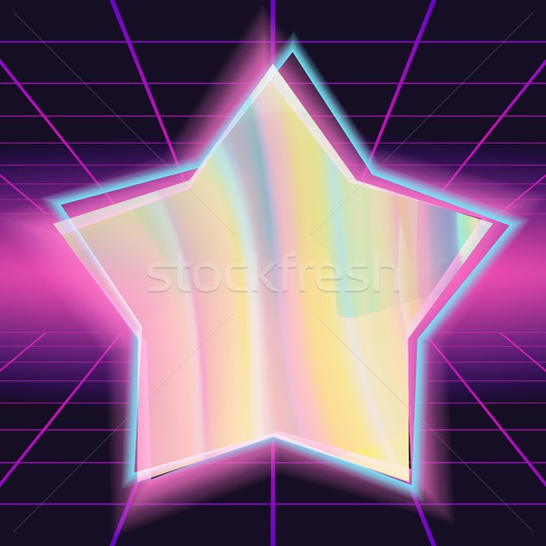 80s vector verschillend kleuren hologram glanzend Stockfoto © pikepicture