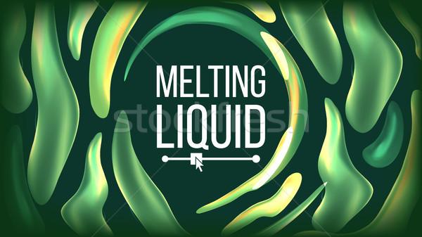 Fluid Liquid Background Vector. Futuristic Design. Abstract Flowing Texture. Splash Illustration Stock photo © pikepicture