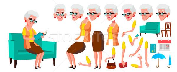 Velha vetor senior pessoa retrato idoso Foto stock © pikepicture