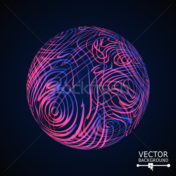 Sphere Background With Shiny Glitters. Vector Glowing Composition Stock photo © pikepicture