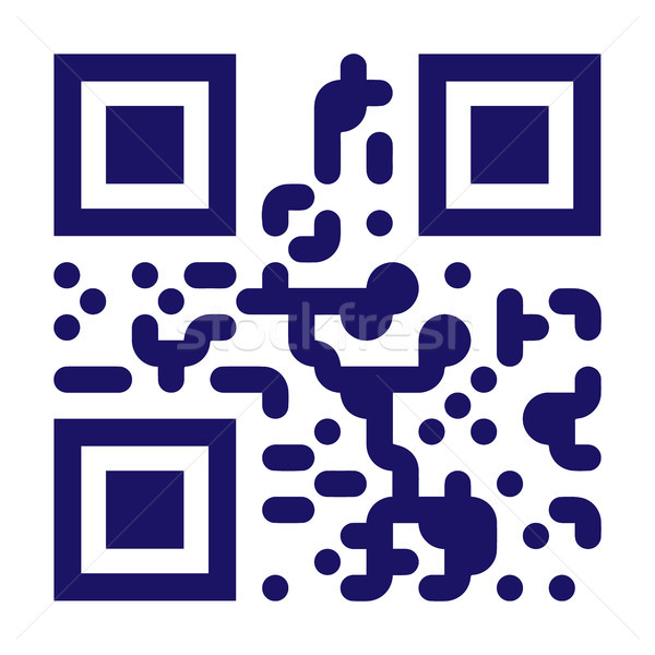 Monster qr code vector scannen monochroom Stockfoto © pikepicture