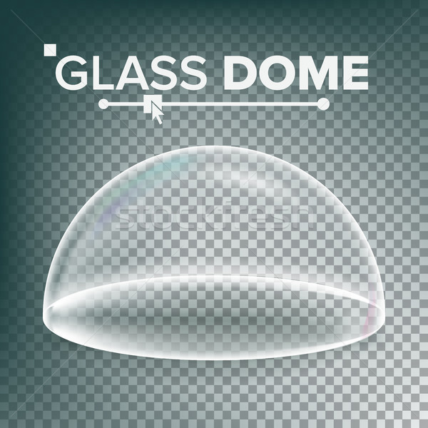 Dome Vector. Advertising, Presentation Glass Design Element. Template Mockup. Realistic Isolated Tra Stock photo © pikepicture