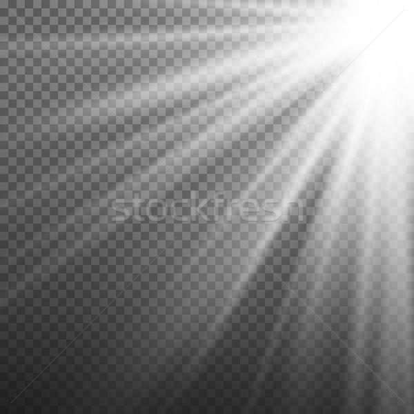 Licht Wirkung Vektor Strahlen Burst isoliert Stock foto © pikepicture