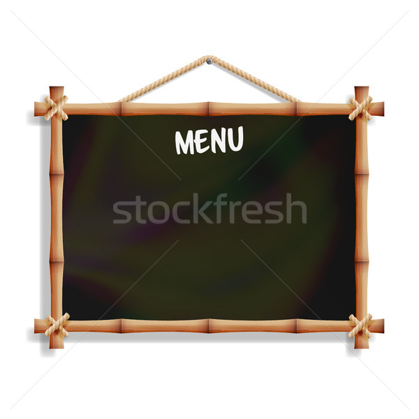 Cafe Menu Board With Bamboo Frame. Stock photo © pikepicture