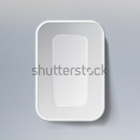 Template Blank White Plastic Food Container. Mock Up Template Ready For Your Design. Stock photo © pikepicture