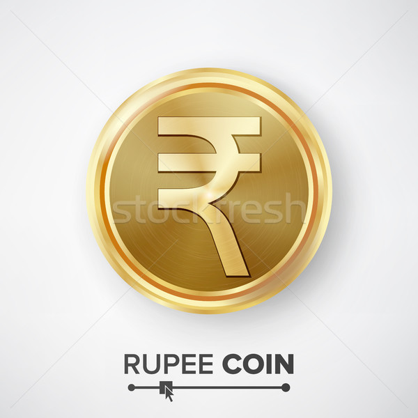Rupee Gold Coin Vector Stock photo © pikepicture