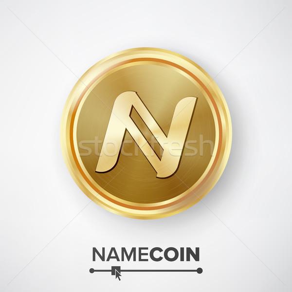 Namecoin Gold Coin Vector Stock photo © pikepicture