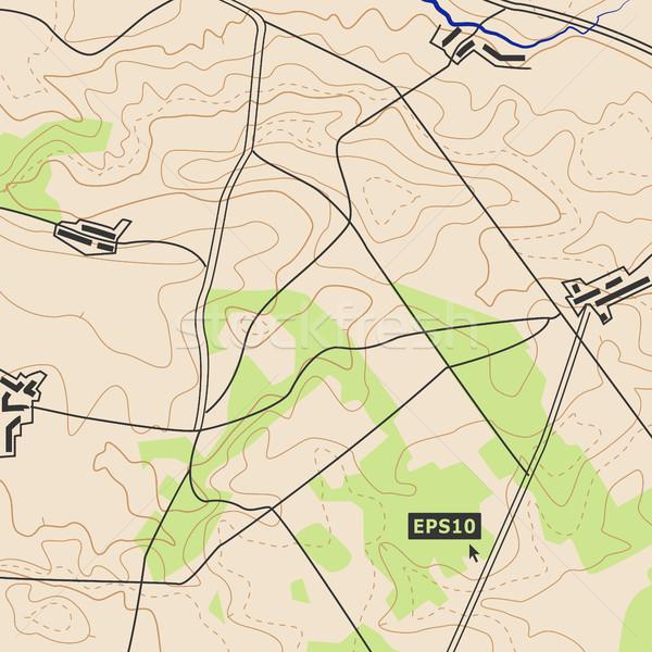 Kaart wegen opluchting contouren kan gebruikt Stockfoto © pikepicture