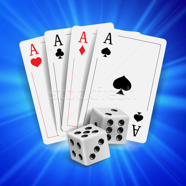 Casino poker design vecteur cartes jouer Photo stock © pikepicture