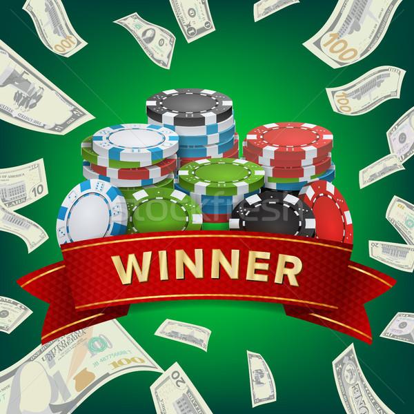 Ganador vector juego afortunado bote Foto stock © pikepicture