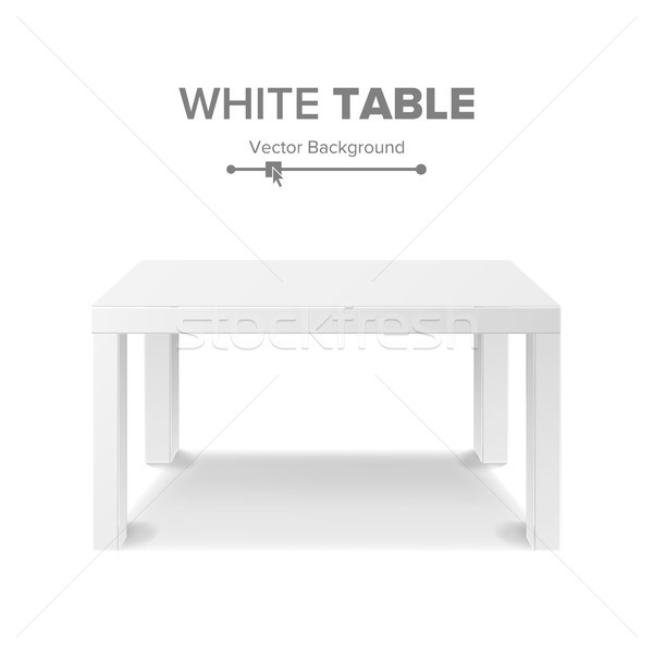 White Table Vector. 3D Stand Template For Object Presentation. Realistic Vector Illustration. Stock photo © pikepicture