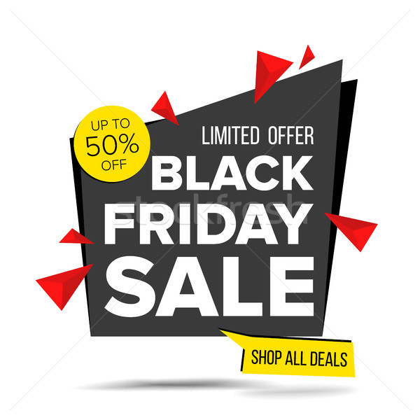 Black Friday Sale Banner Vector. Advertising Poster. Discount And Promotion. Isolated Illustration Stock photo © pikepicture