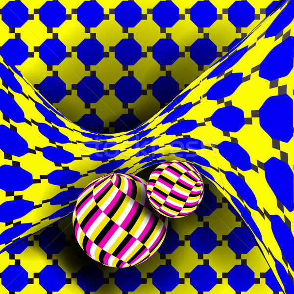 Illusion Vector. Optical 3d Art. Rotation Dynamic Optical Effect. Swirl Illusion. Delusion, Endless, Stock photo © pikepicture