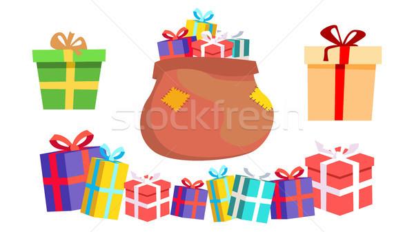 Vakantie aanwezig geschenkdoos vector kleurrijk Stockfoto © pikepicture