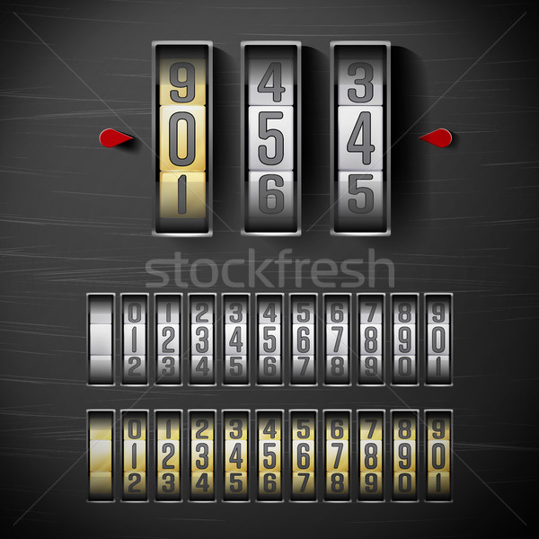 Combination Lock, Realistic Metal Vector Stock photo © pikepicture