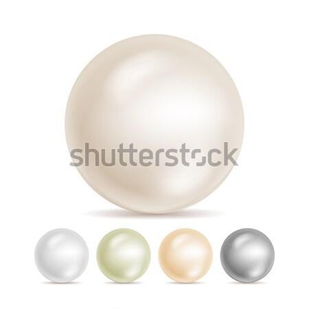 Realistisch parels geïsoleerd vector ingesteld 3D Stockfoto © pikepicture