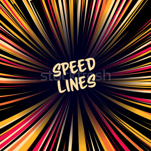 Manga snelheid lijnen vector lay-out komische Stockfoto © pikepicture