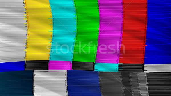 Television Screen With Static Noise Stock photo © pikepicture