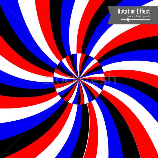 érzekcsalódás vektor 3D művészet rotáció dinamikus Stock fotó © pikepicture