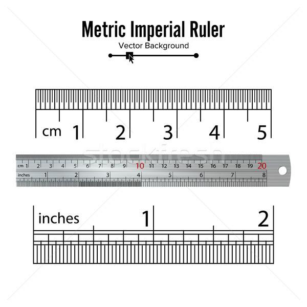 Métrique vecteur centimètre inch mesure outils Photo stock © pikepicture