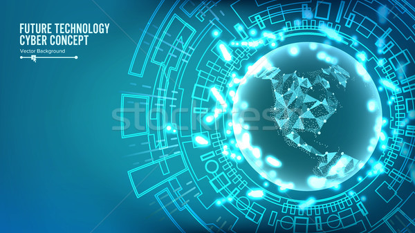 Futuristic Technology Connection Structure. Vector Stock photo © pikepicture