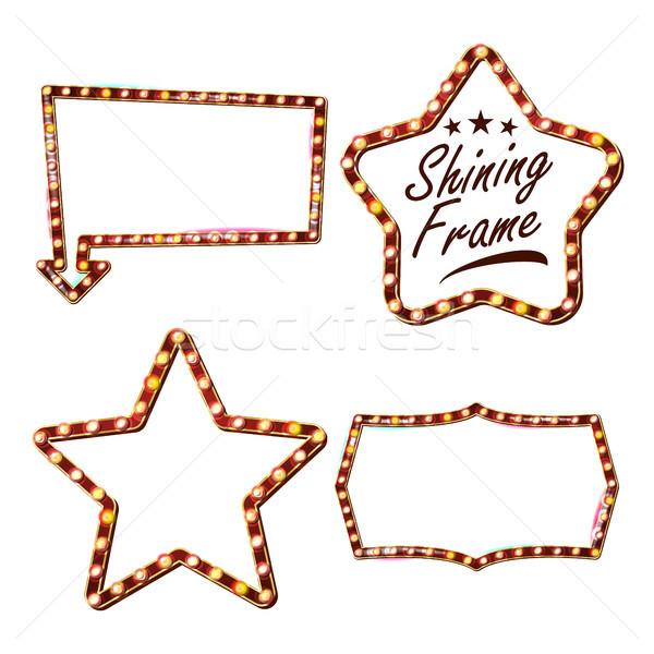 Star ingesteld billboard vector teken Stockfoto © pikepicture