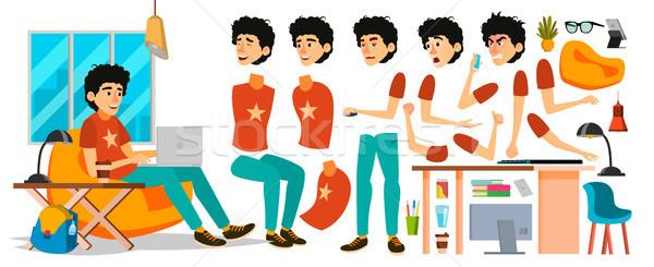 ビジネスマン 文字 ベクトル 作業 男性 開始 ストックフォト © pikepicture