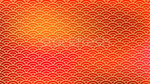 Chinese Ornament Vector. Traditional Red Golden Clouds. New Year Background. Illustration Stock photo © pikepicture
