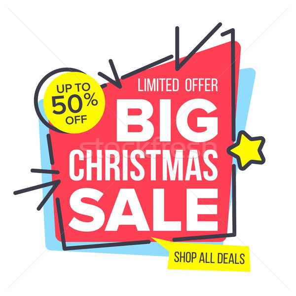 Рождества продажи наклейку вектора как плакат Сток-фото © pikepicture