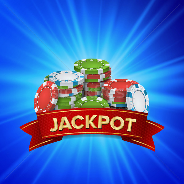 Jackpot Big Win Sign Vector Background. Design For Online Casino, Poker, Roulette, Slot Machines, Pl Stock photo © pikepicture