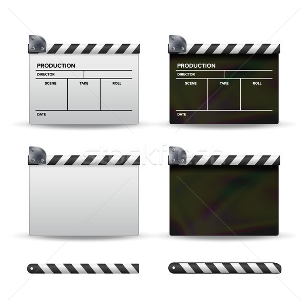 Boord vector ingesteld film sjabloon symbool Stockfoto © pikepicture