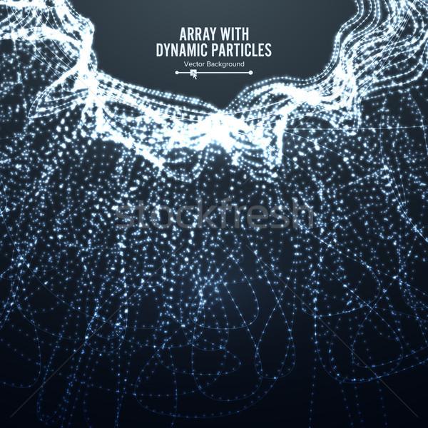 Array Vektor dynamische Teilchen Zeilen Grafik Stock foto © pikepicture