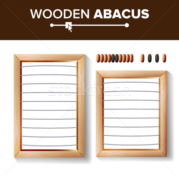 Abacus Blank. Vector Template Illustration Of Classic Wooden Abacus. Shop Arithmetic Tool Equipment. Stock photo © pikepicture