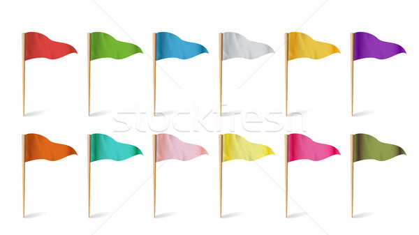 Location Flags Vector. Concept Of Explore Illustration. Stock photo © pikepicture