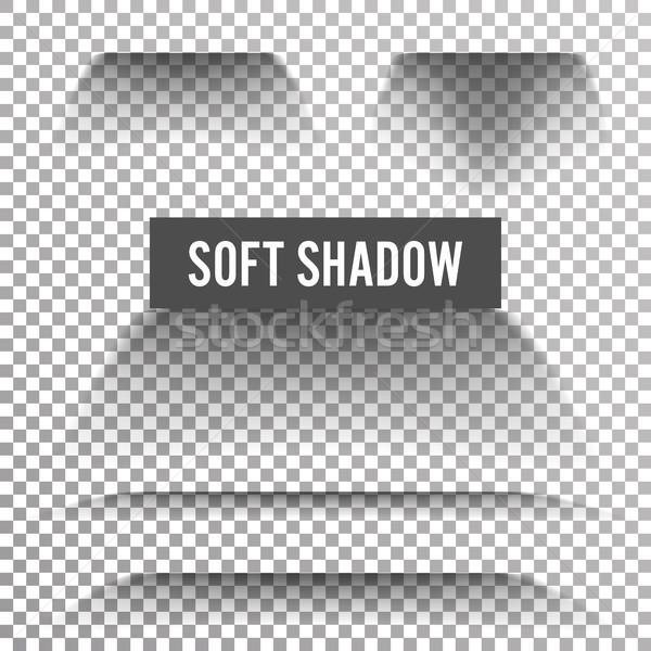 Transparente macio sombra vetor gradiente efeito Foto stock © pikepicture
