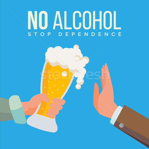 Geen alcohol vector hand drinken Stockfoto © pikepicture
